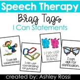 Speech Therapy Reward Tags: I Can Statements