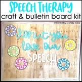 Speech Therapy Bulletin Board & Room Decor