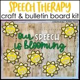 Speech Therapy Bulletin Board & Room Decor | Sunflower Themed