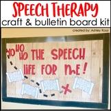 Speech Therapy Craft & Bulletin Board
