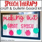 APPLES Speech Therapy Craft & Bulletin Board Kit