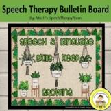 Speech Therapy Bulletin Board and Boho Themed Room Decor
