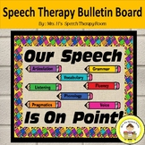 Speech Therapy Bulletin Board for Back to School