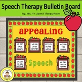 Speech Therapy Bulletin Board for Back to School with Apple Theme