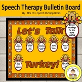 Speech Therapy Bulletin Board for Fall with Thanksgiving Theme