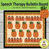 Speech Therapy Bulletin Board for Fall with Pumpkin Theme