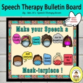 Speech Therapy Bulletin Board for Back to School with  Mas