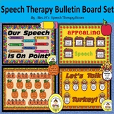 Speech Therapy Bulletin Boards for Fall Bundle