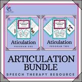 BUNDLE -Speech Therapy Bundle - Articulation Program 1 & 2 - Save on the Bundle!
