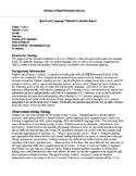 Speech Therapy-CELF-5 (9-21) Comprehensive Evaluation Report Template
