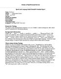 Speech Therapy CELF-5 Metalinguistic Evaluation Report Template
