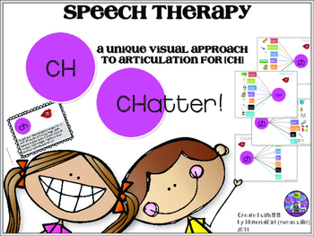 Speech Therapy CH articulation activity graphic organizer visual approach