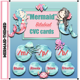 Mermaid Speech Therapy: CVC Bilabial Articulation Cards