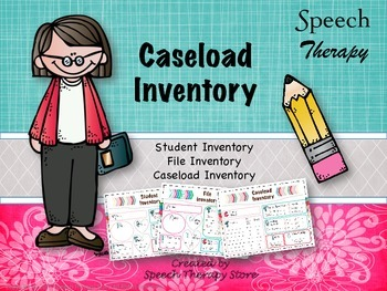 Speech Therapy Caseload Inventory Sheets