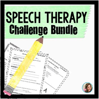 Speech and Language Therapy | Speech Therapy Challenge Bundle