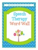 Speech Therapy Chevron Owl Word Wall Sight Words for /r/, /l/, /s/, /z/, & /ch/