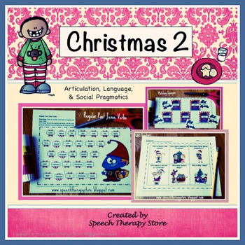 Speech Therapy Christmas 2: Language, Articulation, & Soci