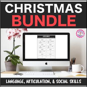 Speech Therapy Christmas Bundle: Language, Articulation, & Social Pragmatics