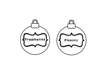 Speech Therapy Christmas Ornaments!