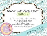 Speech Room Decor ~ Brights