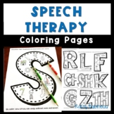 Speech Therapy Coloring Pages