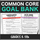 Speech Therapy Common Core Elementary Packet K-5th Grade Goal Bank Bundle