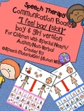 Speech Therapy Communication Board I FEEL BAD (SICK) Autism Non-Verbal