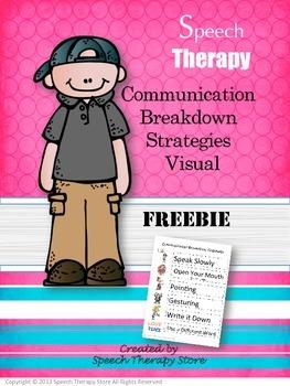 Speech Therapy Communication Breakdown Strategies Visual FREEBIE