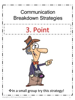 Speech Therapy Communication Breakdown Strategies for Life Skills Students