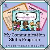 Speech Therapy - Communication Language Skills Program (editable special needs)