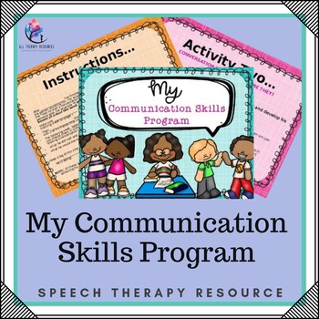 Speech Therapy - Communication Language Skills Program (editable special needs)