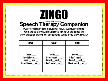 Speech Therapy Companion for ZINGO