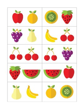 Speech Therapy Compare Contrast Fruits