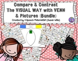 Speech Therapy Compare Contrast Same Different Venn & icon attributes VISUAL
