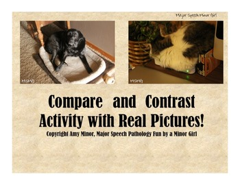 Speech Therapy: Compare and Contrast with Real Pictures