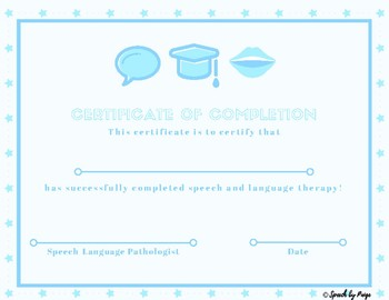 Speech Therapy Completion Certificate- FREE