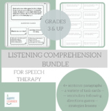 Speech Therapy Comprehension Bundle GROWING