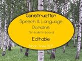 Speech Therapy Construction Theme Bulletin Board