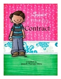 Speech Therapy Contract to Work on Therapy Goals