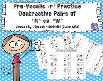 Speech Therapy Contrastive Minimal Pairs Pre-vocalic Initial R Articulation