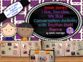 Speech Therapy Conversation Social Communication Activity Like/Don't Like AUTISM