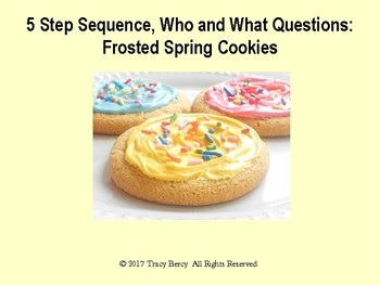 Speech Therapy:  Cookie Decorating Activity