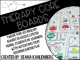 Speech Therapy Core Vocabulary Boards