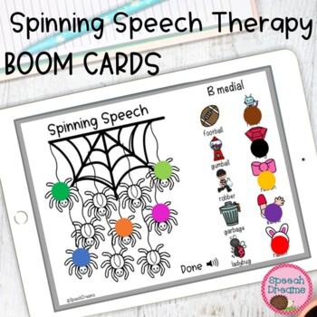 Speech Therapy Craft Activity Spider Halloween