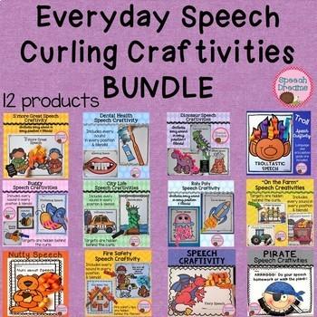 Speech Therapy Craft BUNDLE {everyday curling articulation craftivities}