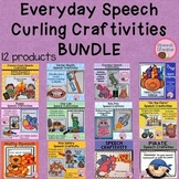 Speech Therapy Craft BUNDLE {everyday curling articulation craftivities}