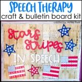 Veterans Day Speech Therapy Craft & Bulletin Board Kit