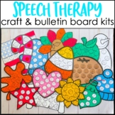 Speech Therapy Bulletin Board | Speech Therapy Decor BUNDLE
