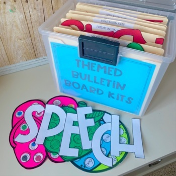 Speech Therapy CRAFTS & BULLETIN BOARD KITS