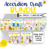 Speech Therapy Craft | Seasonal Accordion Craft Bundle for